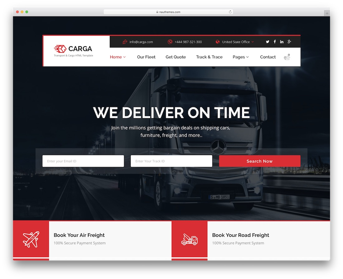 carga cheap website template
