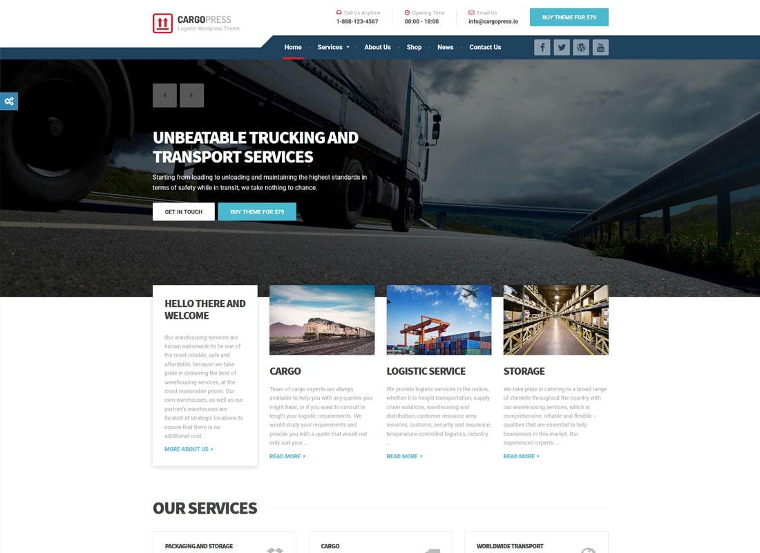 CargoPress | Logistic, Warehouse & Transport WordPress Theme
