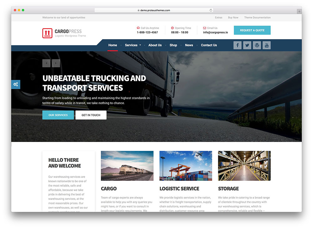cargopress - logistic company theme