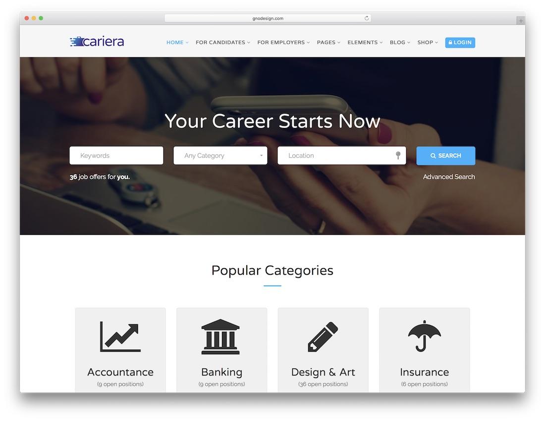 cariera html5 website template