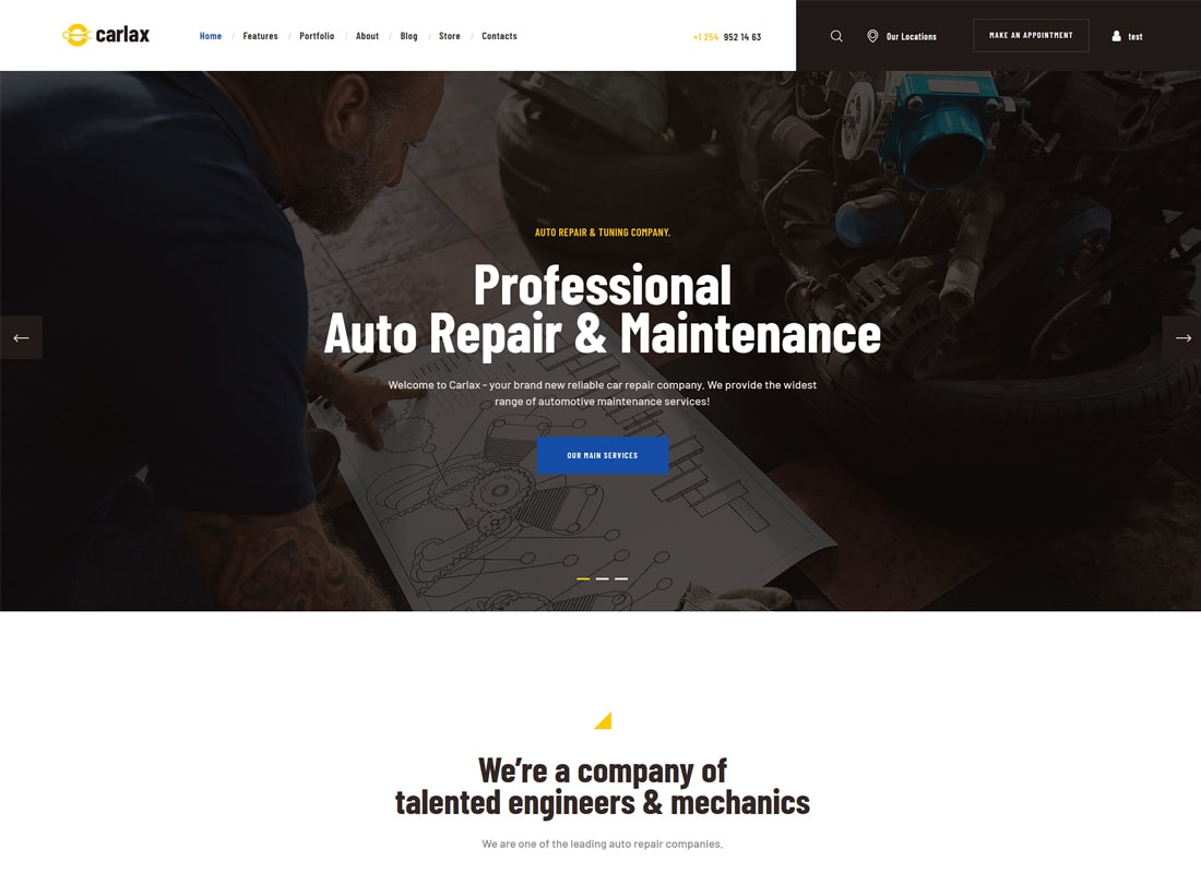 Carlax | Car Parts Store & Auto Service WordPress Theme