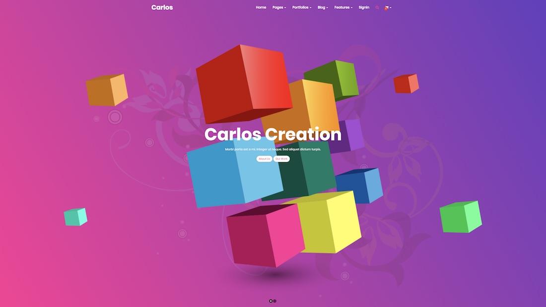carlos graphic design website template