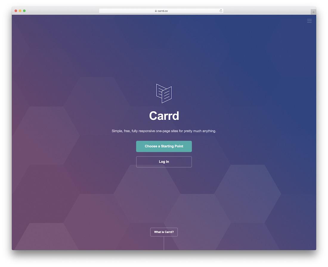carrd free responsive website builder