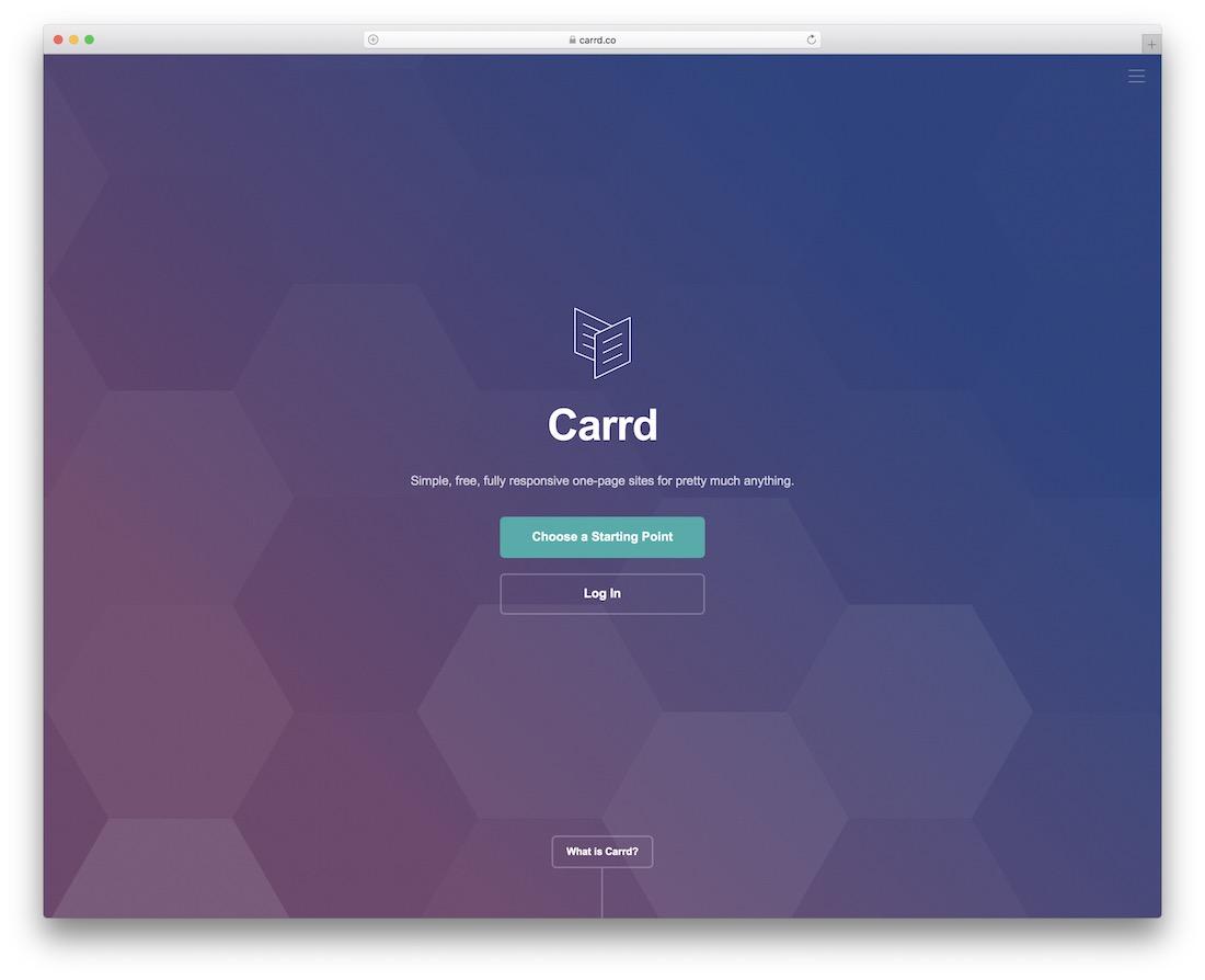 carrd free website builder and hosting