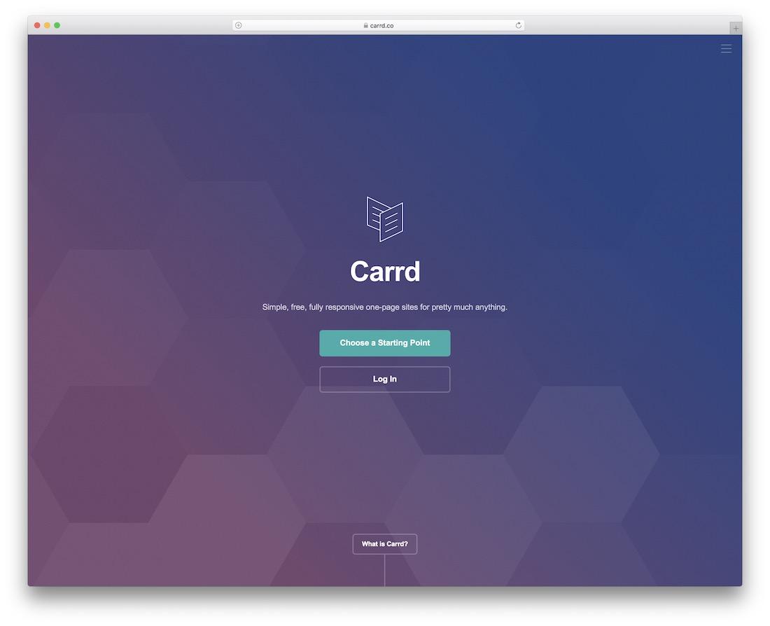 carrd personal website builder