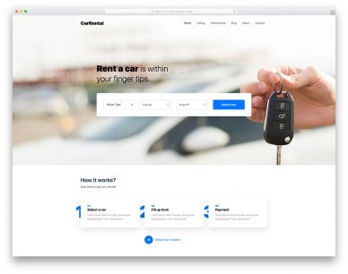 Carrentals Free Template