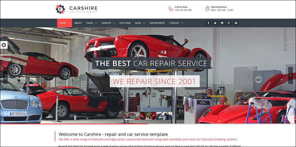 Car Shire || Auto Mechanic & Car Repair WordPress Theme