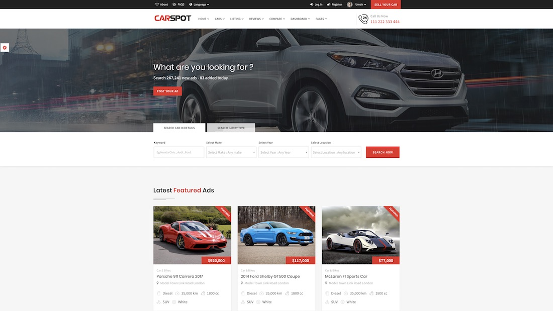 carspot website template