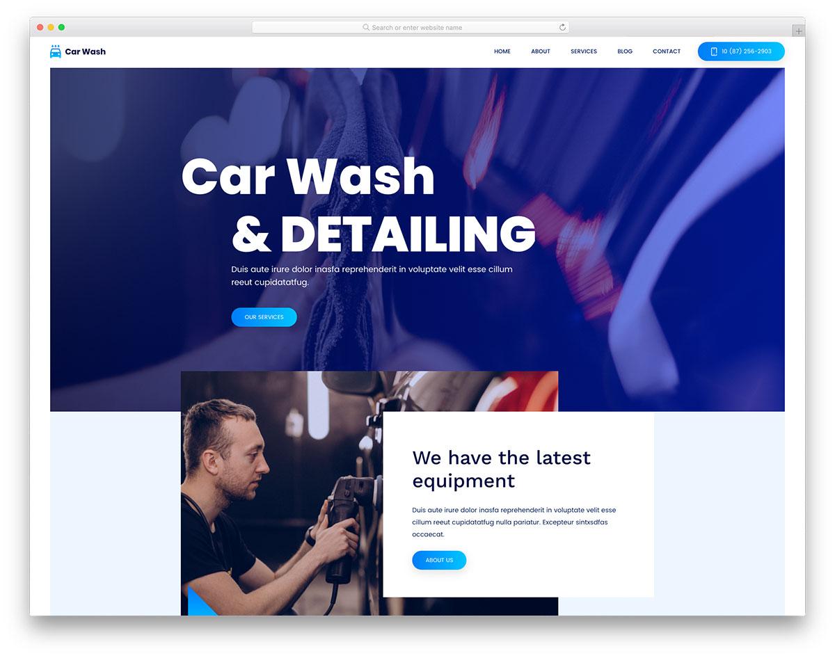 Carwash Free Template