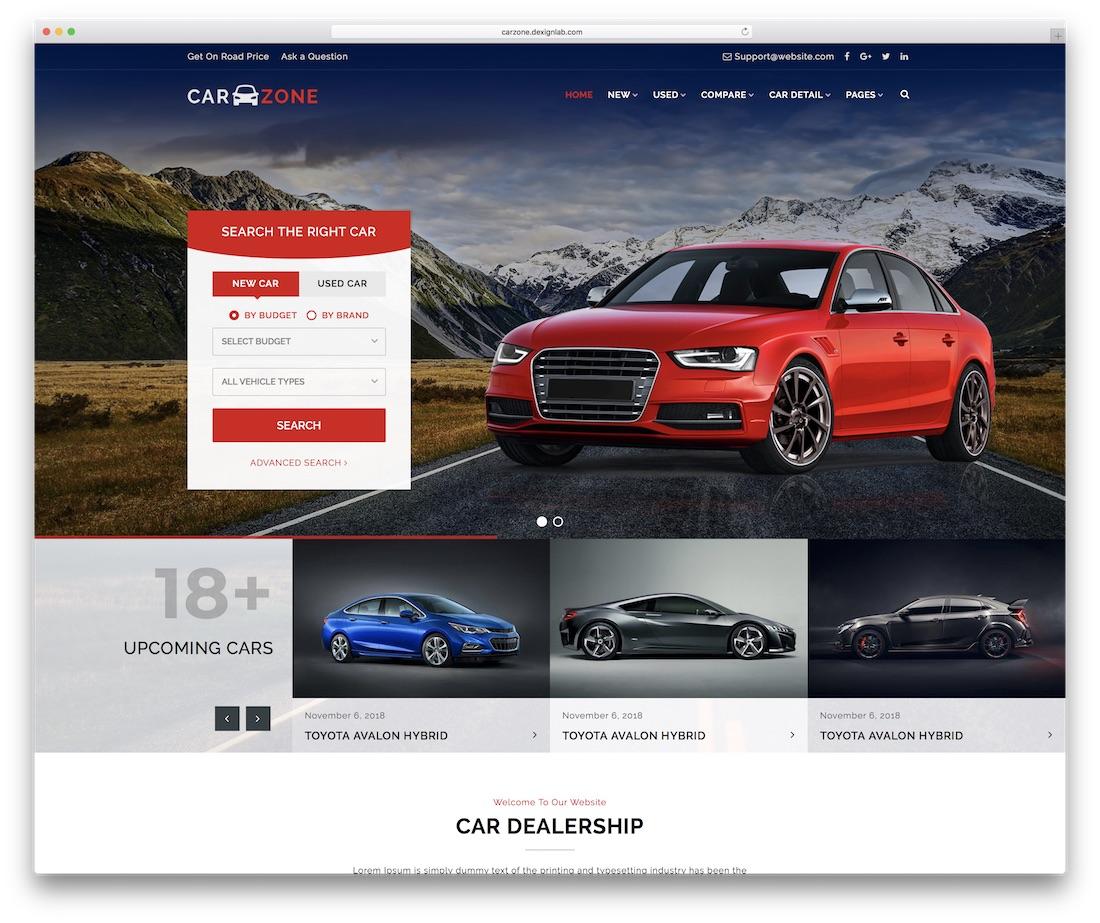 carzone automotive website template