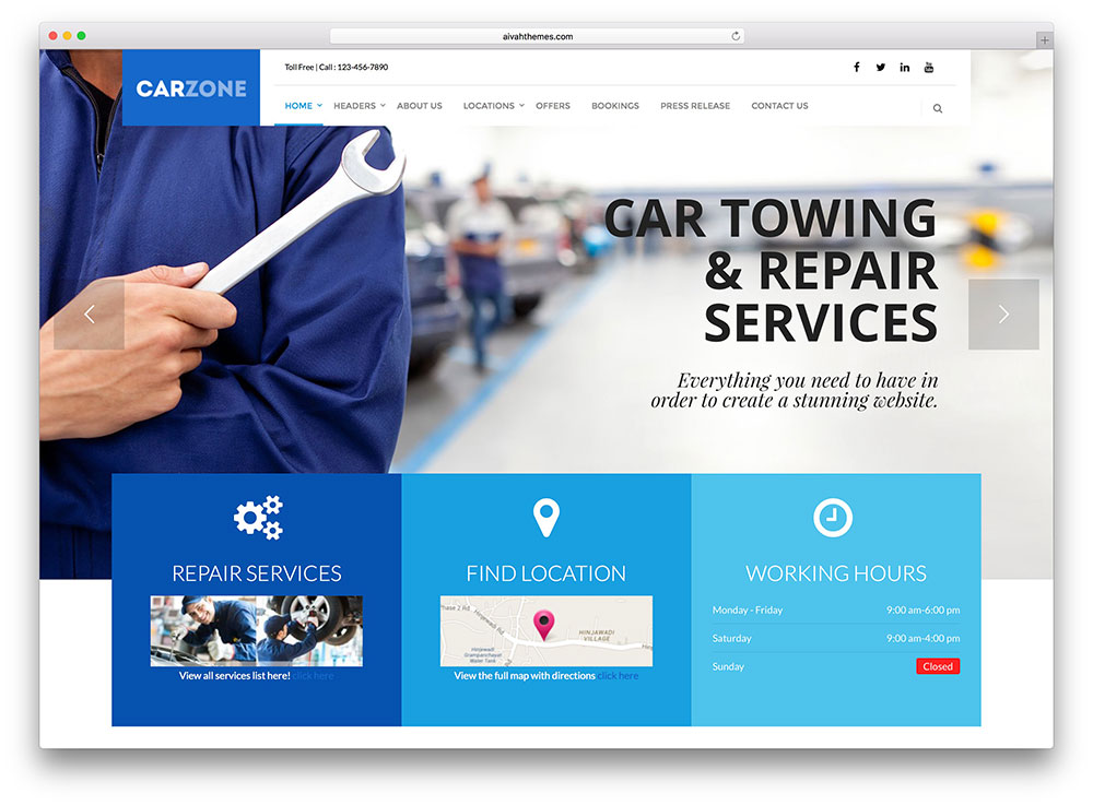 carzone-light-auro-repai-service-theme