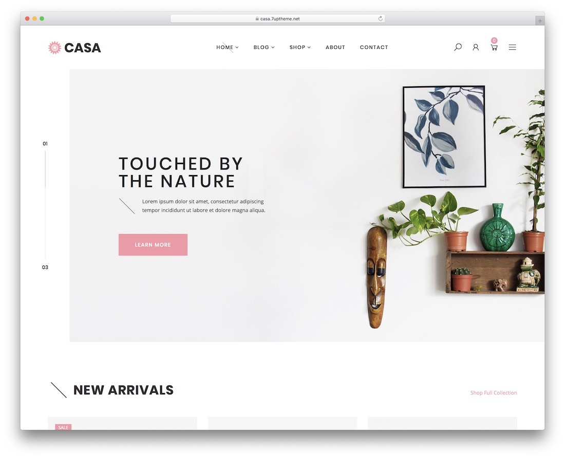 casa furniture wordpress theme