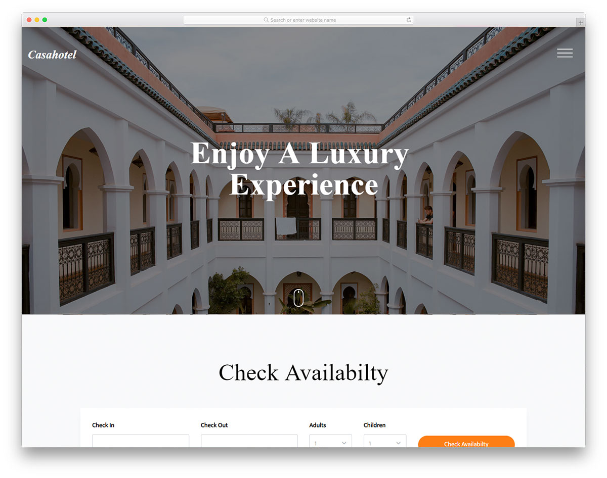 casahotel free template