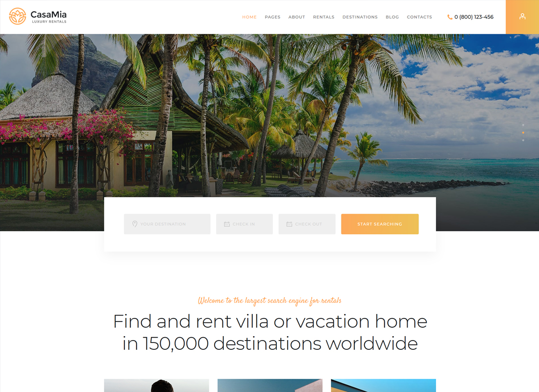 CasaMia   Property Rental WordPress Theme
