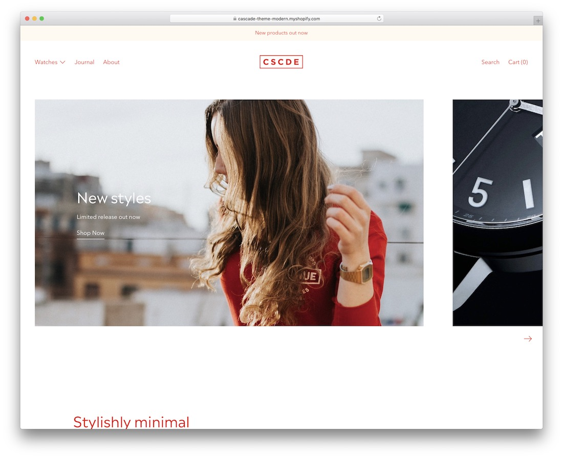 cascade shopify jewelry theme