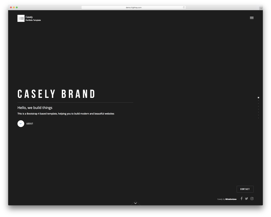 casely beautiful website template