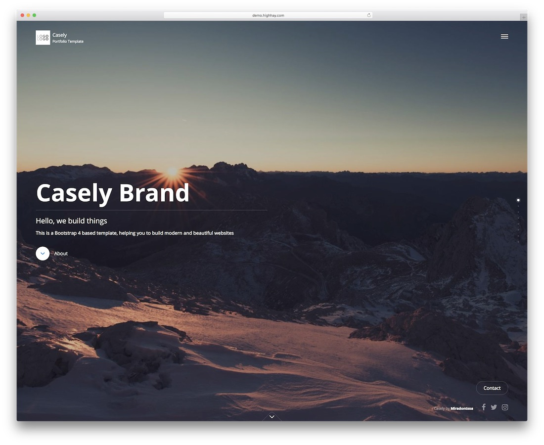 casely creative website template