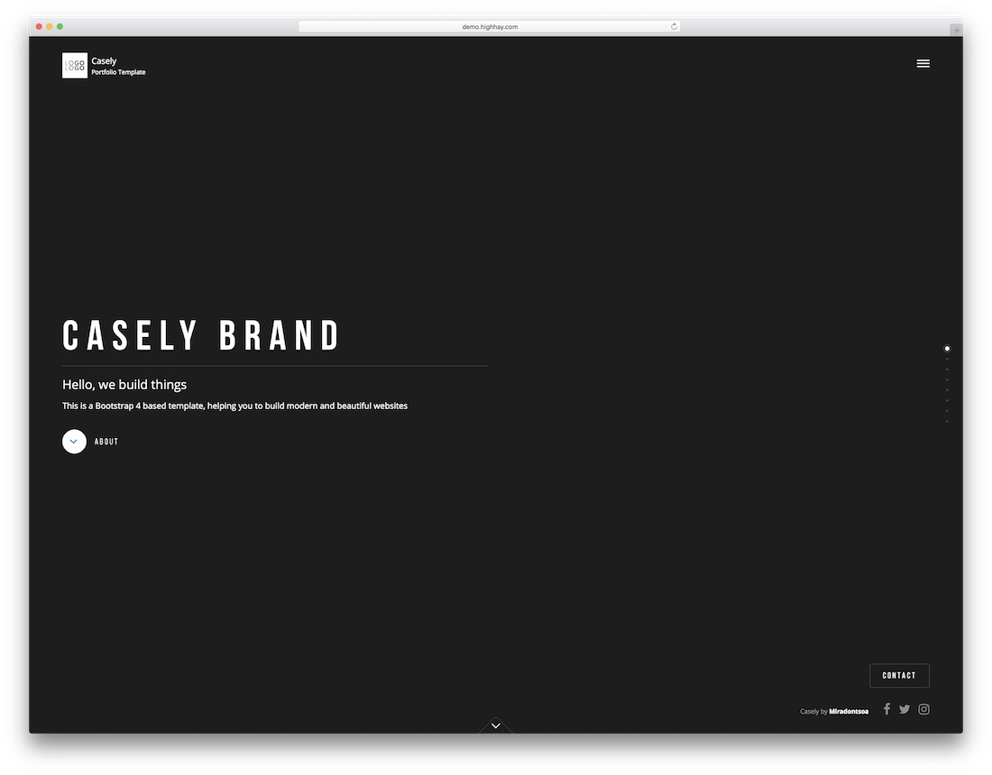 casely designer website template
