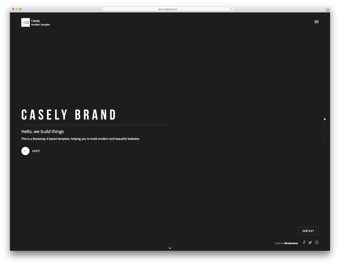 casely marketing website template