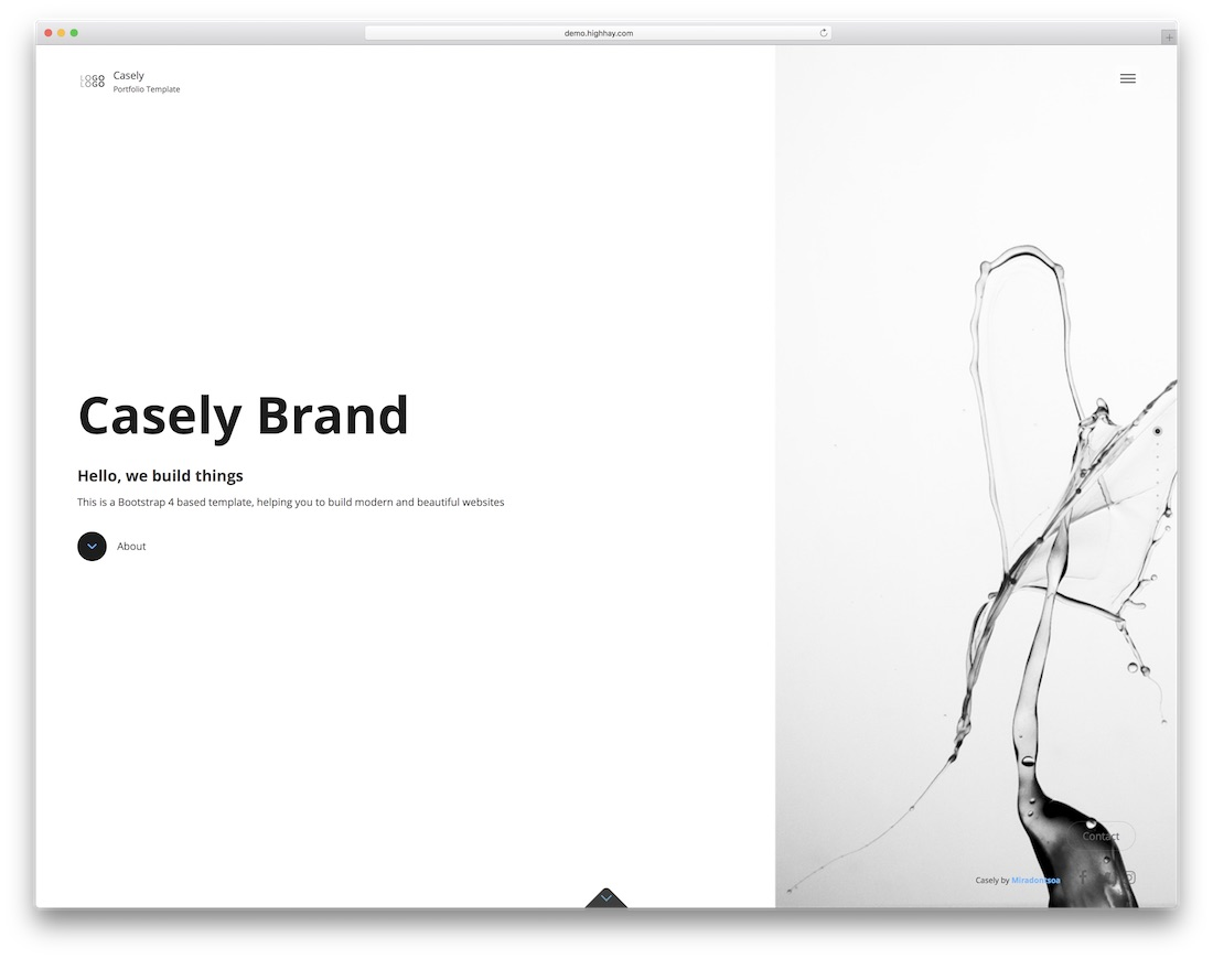 casely simple bootstrap template