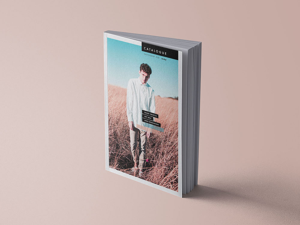 catalog book psd mockup