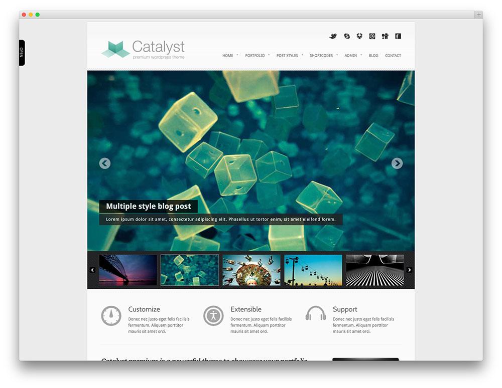 catalyst creative corporate theme