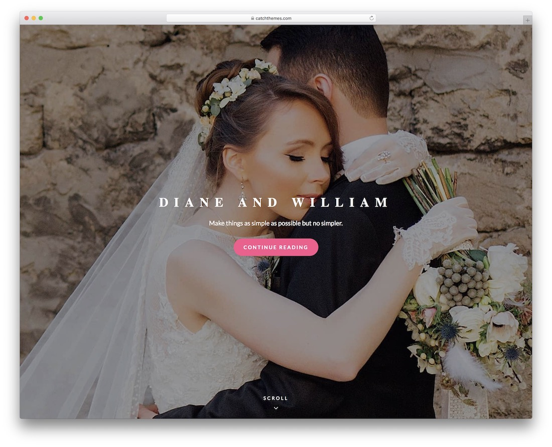 catch wedding free wordpress theme