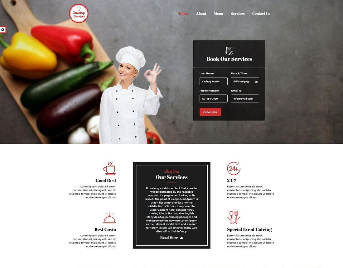 Awesome Catering Website Templates Colorlib - Brochure website templates