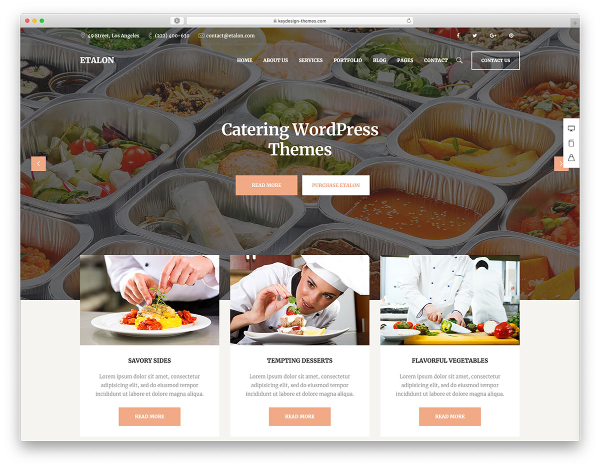 24 Best Food Catering WordPress Themes 2020