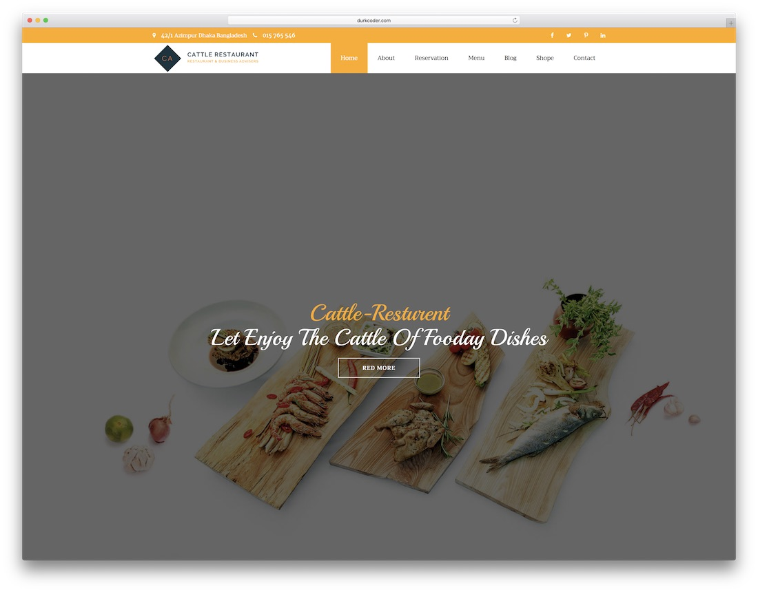 cattle catering website template
