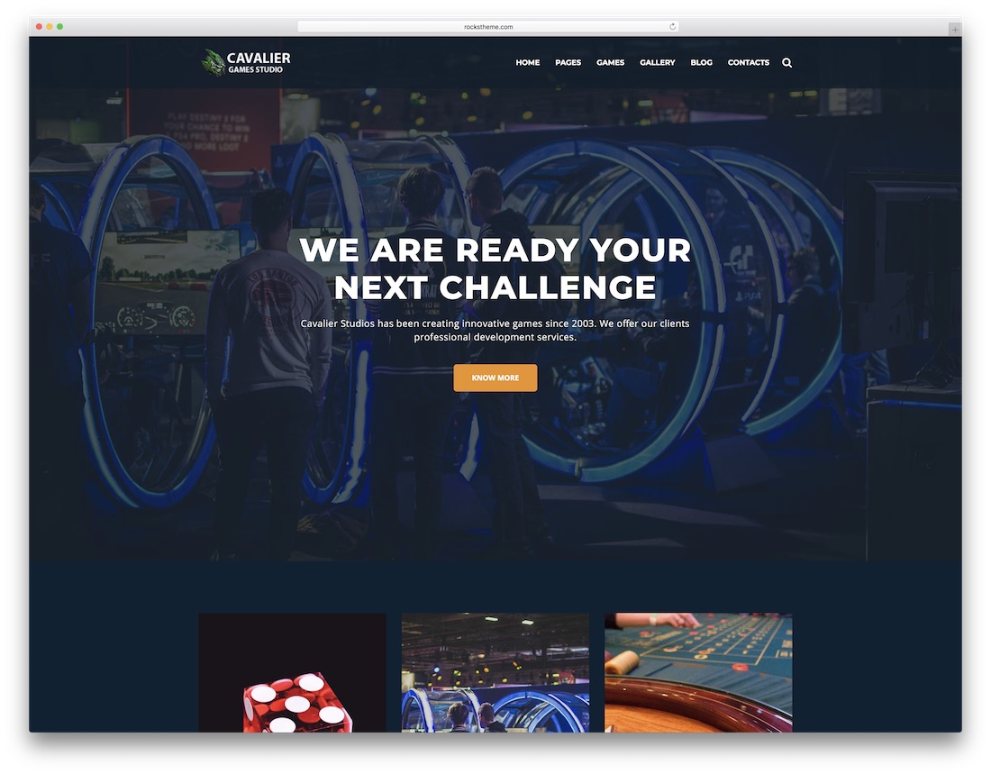cavalier gaming html website template