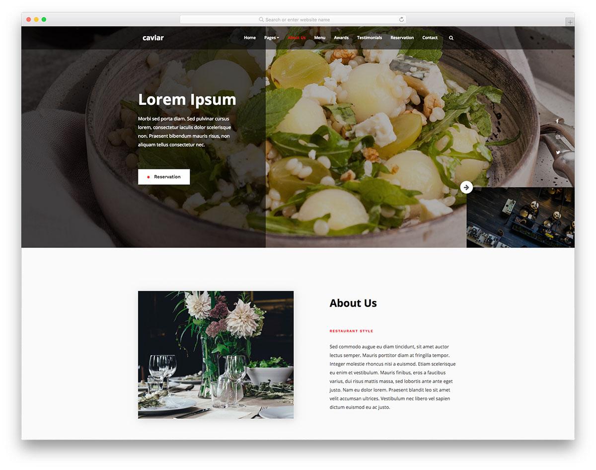 Скачать бесплатно html шаблон Caviar