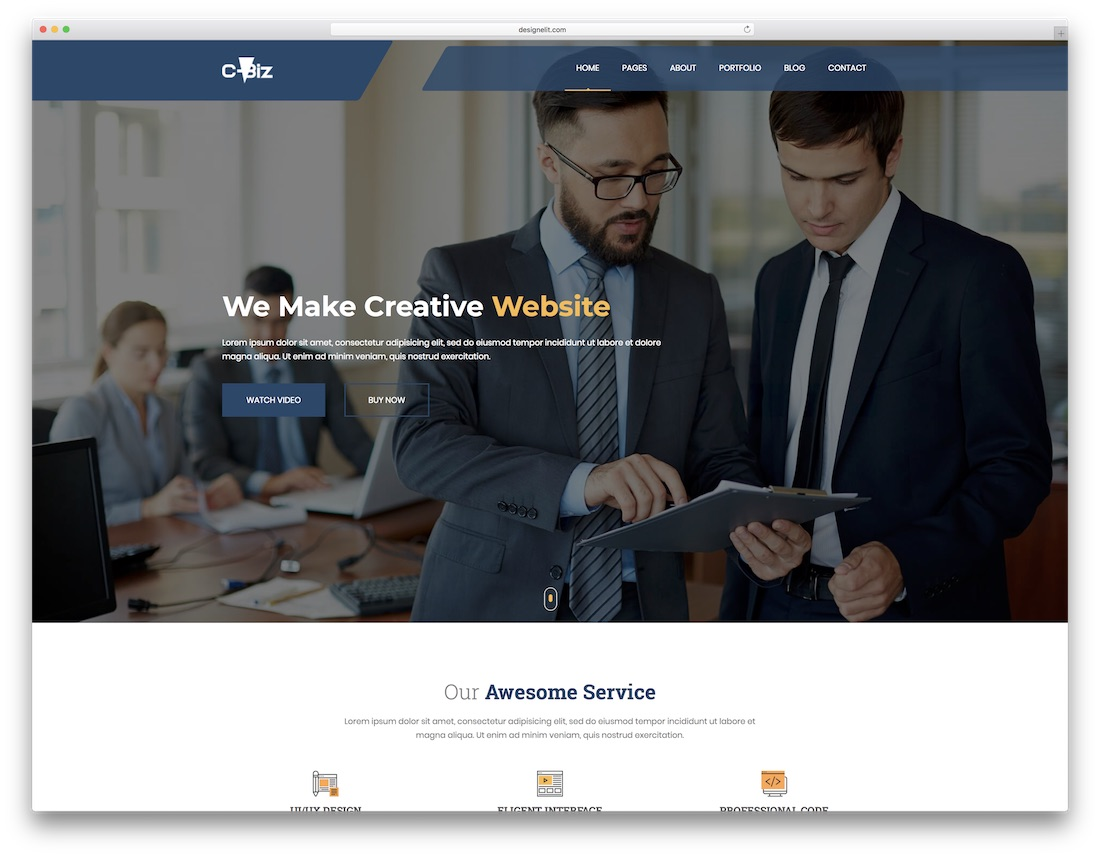 cbiz marketing website template