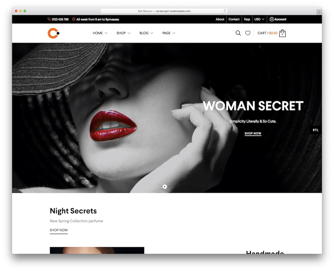 cerato woocommerce wordpress theme