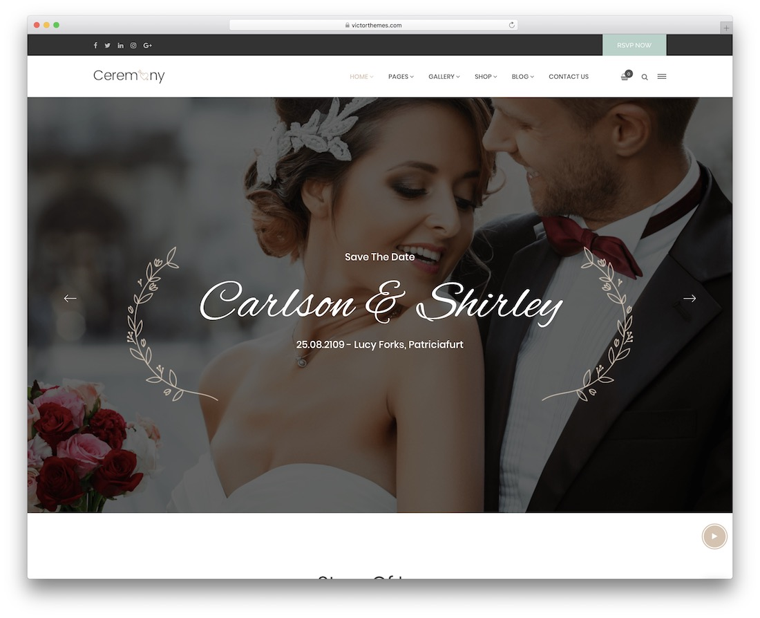 ceremony wedding website template
