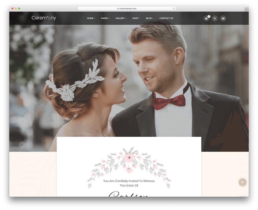 ceremony wordpress theme