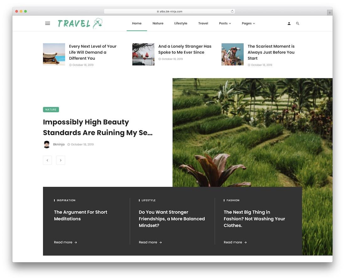 ceris travel magazine theme