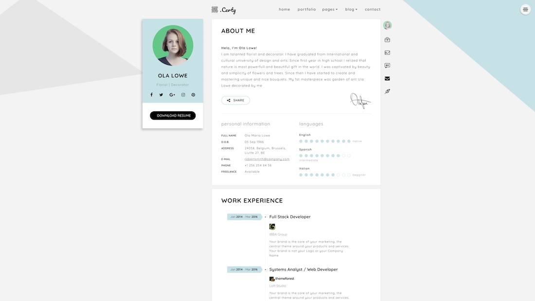 certy website template