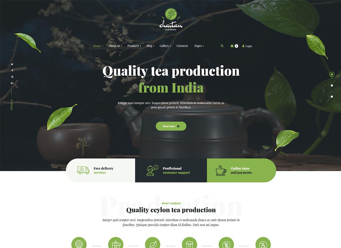 Chaitan - Tea Production Company and Tea Store WordPress Theme