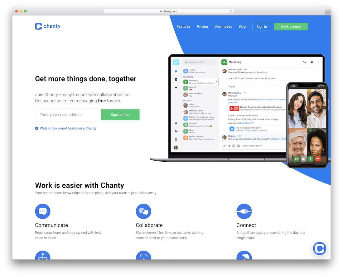 chanty collaborative productivity tool for designers