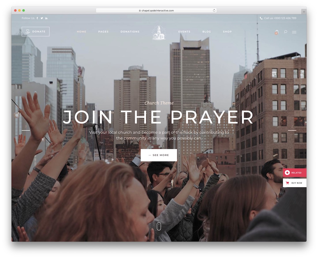 chapel church wordpress theme