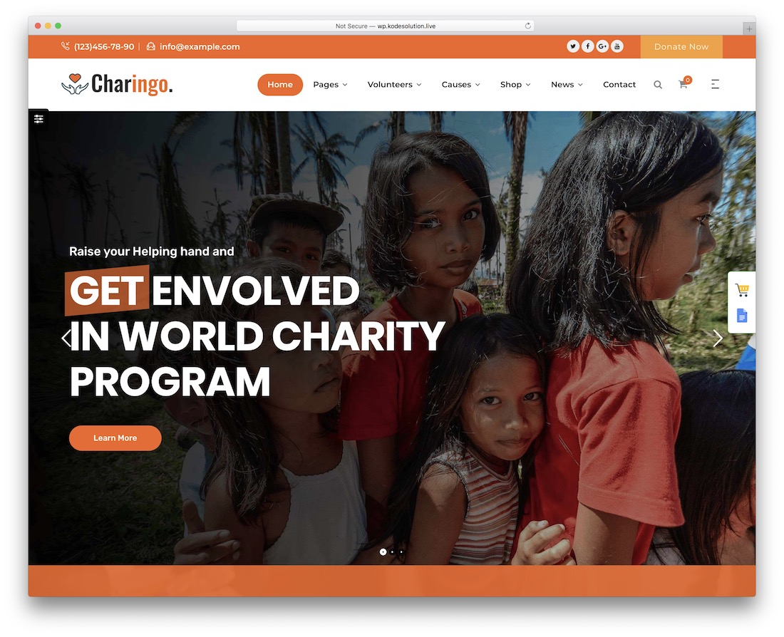 charingo crowdfunding wordpress theme