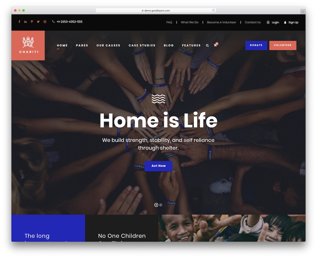 chariti charity wordpress theme