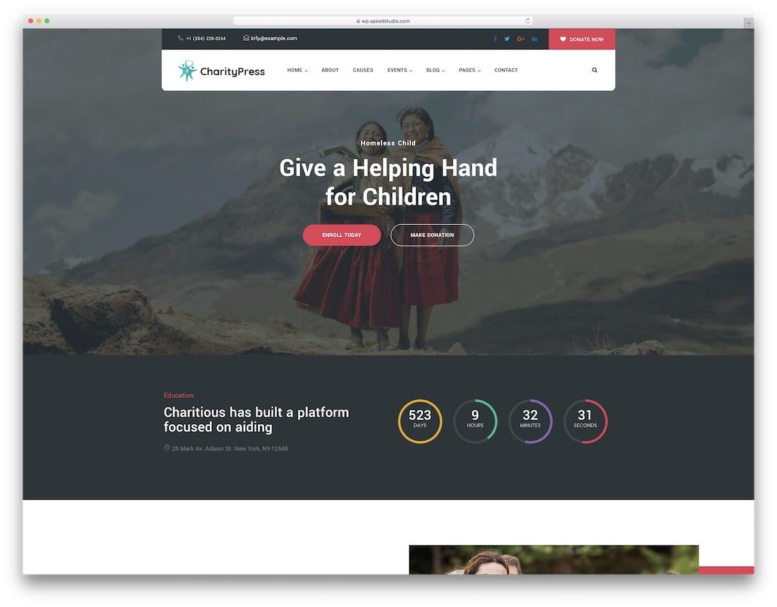 charitious fundraising wordpress theme