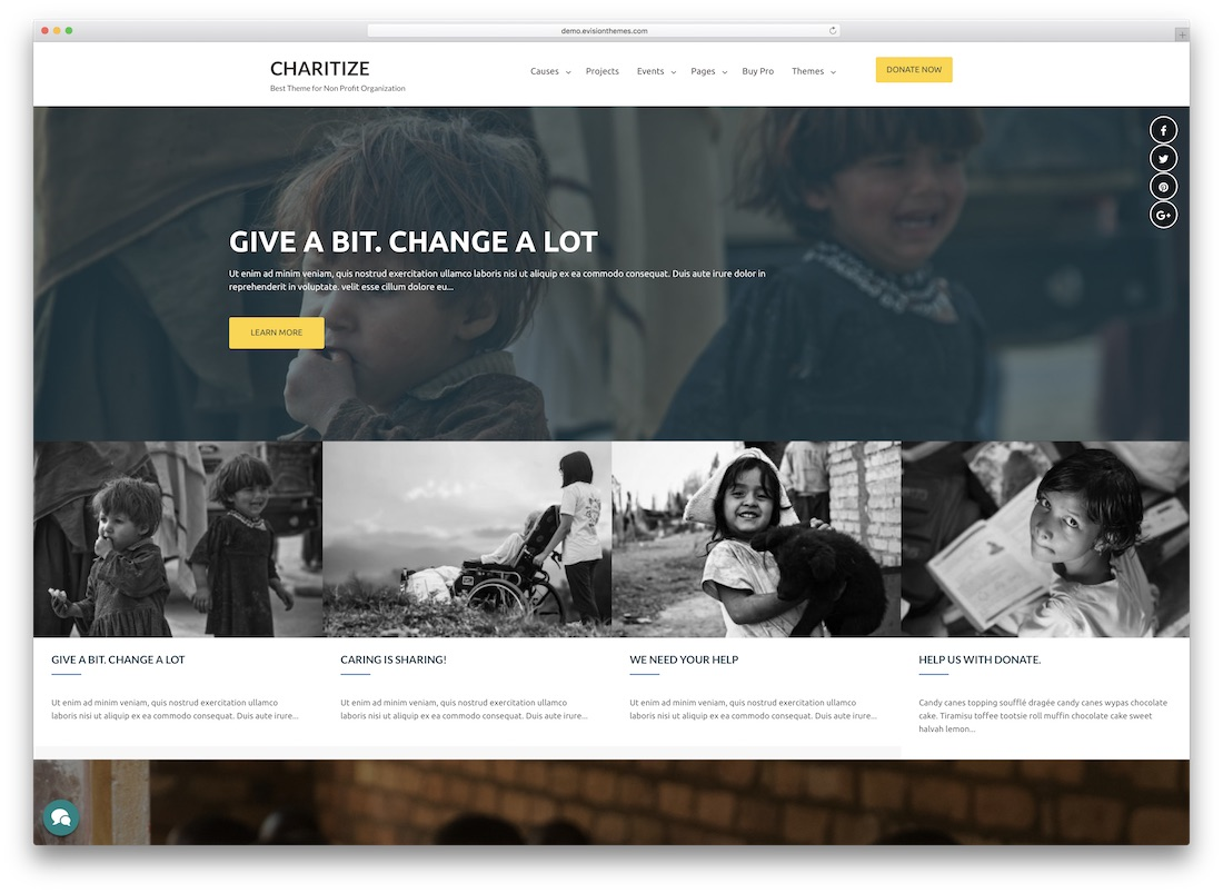charitize church website template
