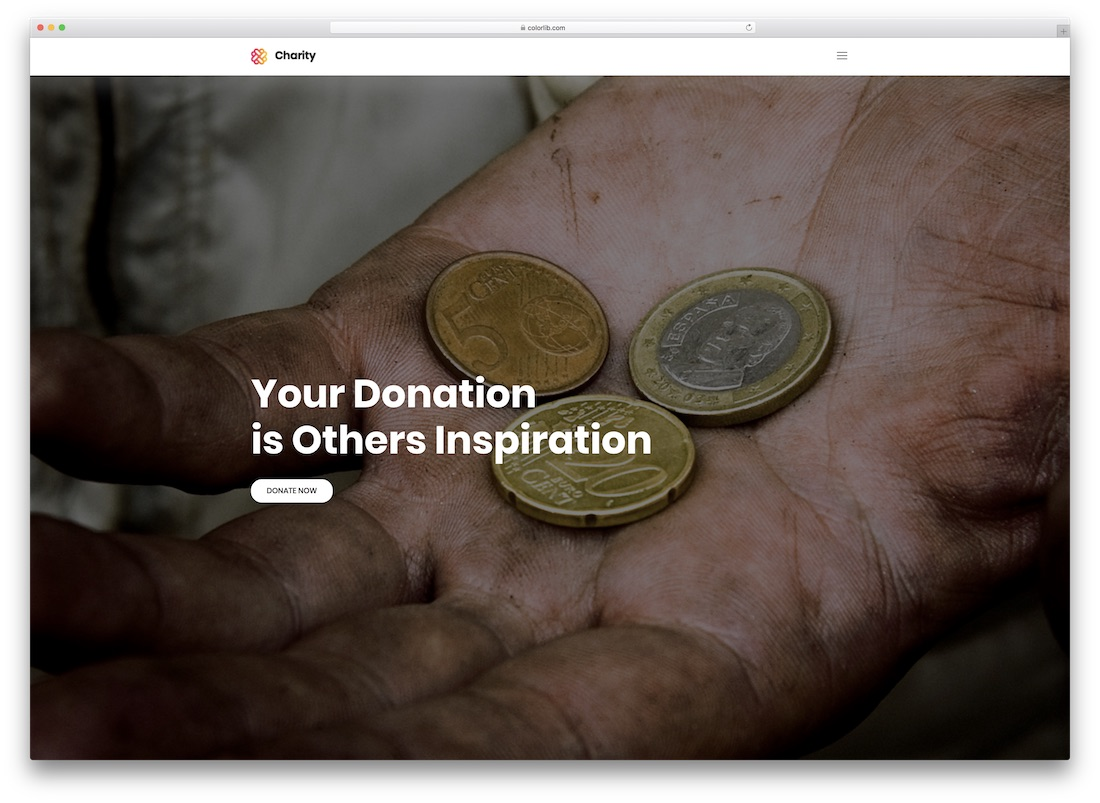 charity free non profit church website template