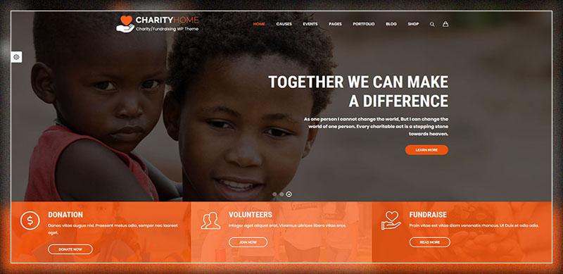 Charity Home - Charity/Fundraising WordPress Theme