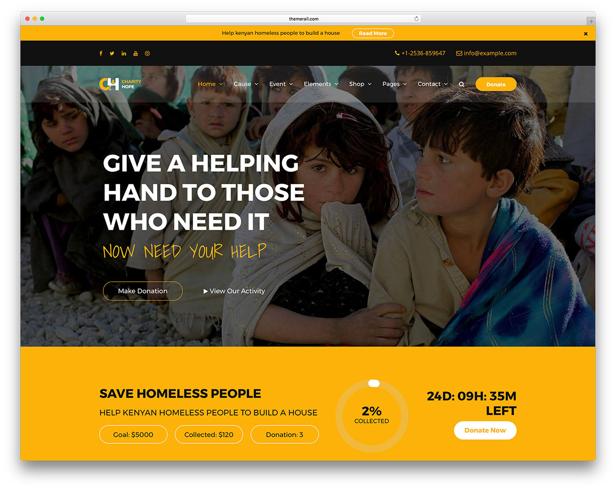Design Nonprofit Website