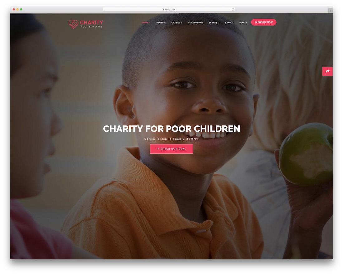 22 Best Premium Html Charity Website Templates 2019