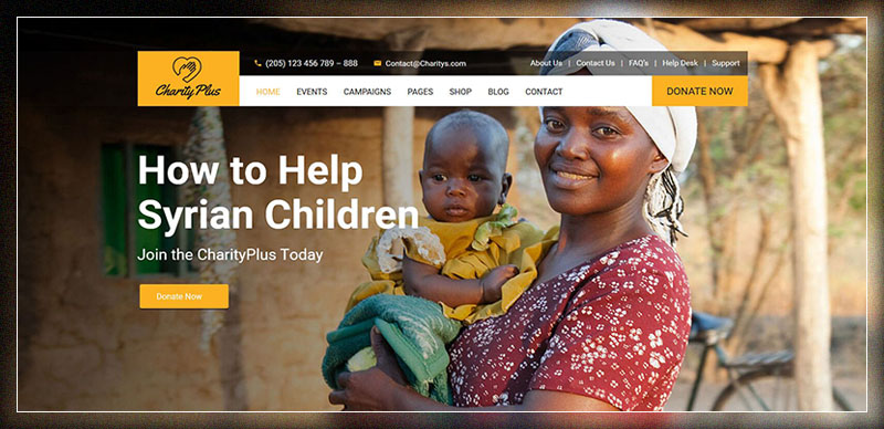 Charity Plus - Nonprofit WordPress Theme